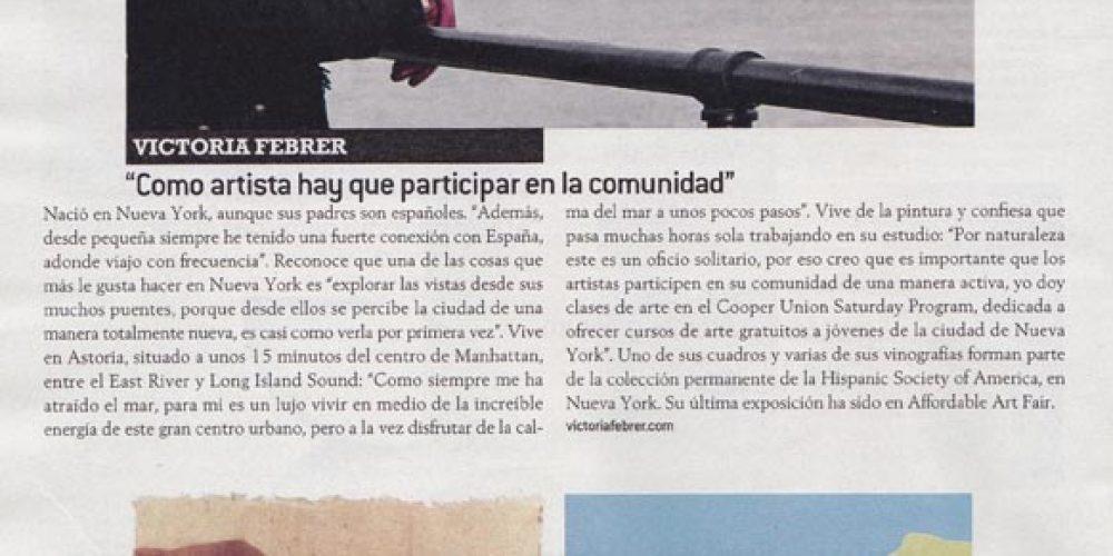 Victoria Febrer in the  Periódico de Catalunya's Magazine