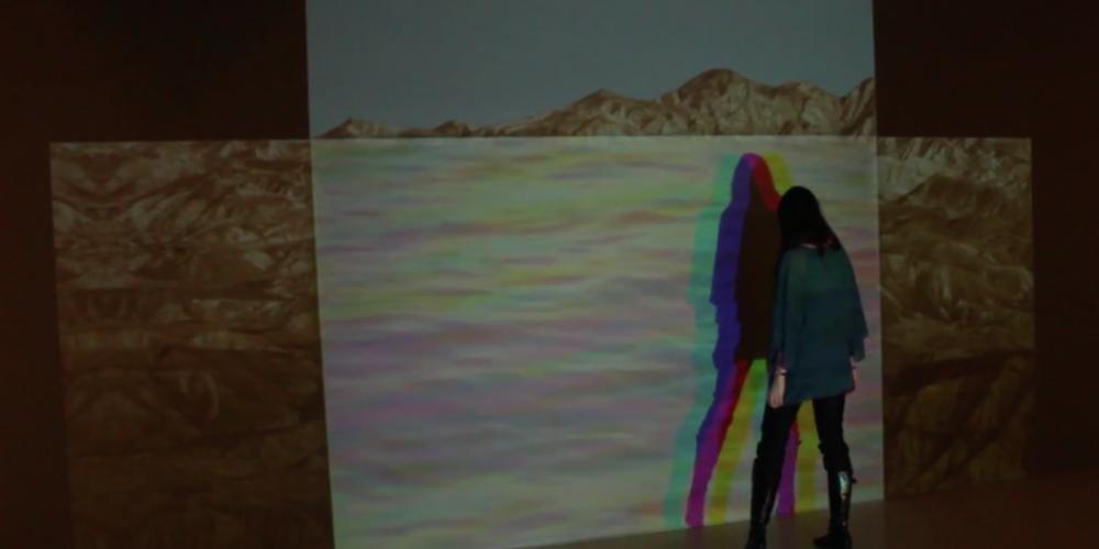 Obra de instalación cinematográfica interactiva <i>MarDesierto/DesertSea</i>