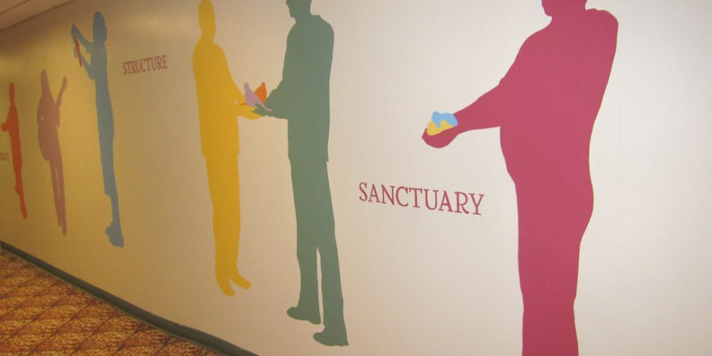Victoria Febrer creates Entrance Hall Mural for the Covenant House